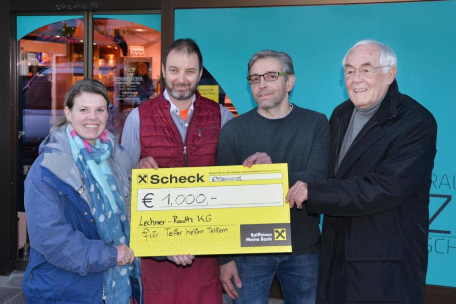 2018 | Spendenübergabe Lechner Rauth KG