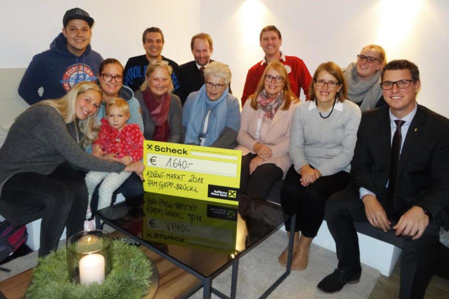 2018 | Spendenübergabe Familien Gapp - Brückl