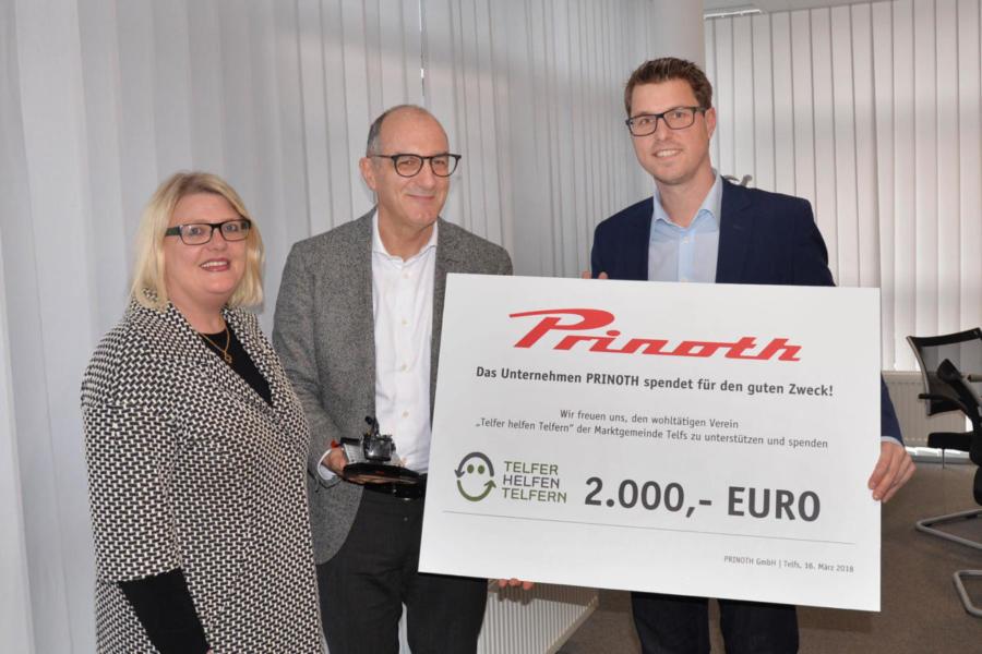 2018 | Spendenübergabe Firma Prinoth