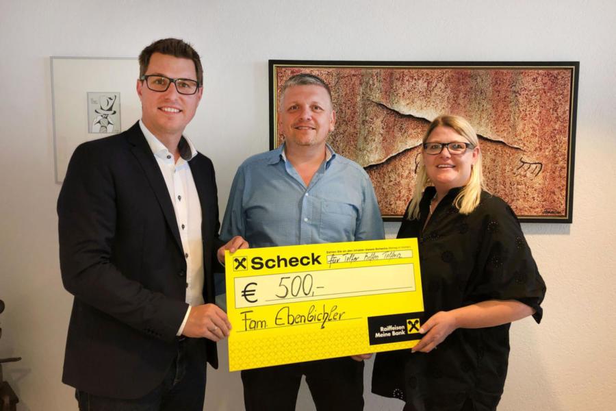 2019 | Spendenübergabe Familie Ebenbichler