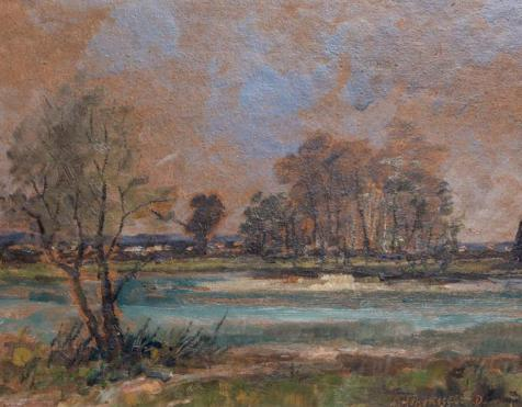 Kat. Nr. 12 | Simon Hohenegger-Dachau (1898–1990) | Flusslandschaft