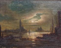 Kat. Nr. 6 | Kopie nach Ludwig Mecklenburg (1820-1882) | S. Giorgio und S. Maria della Salute in Venedig
