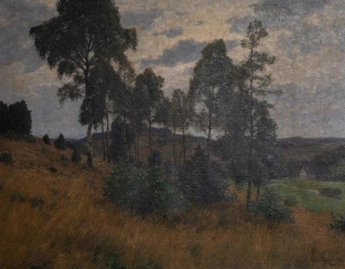 Kat. Nr. 10 | Paul VON RAVENSTEIN (1854-1938) | Birken am Abhang (Schwarzwaldtal)