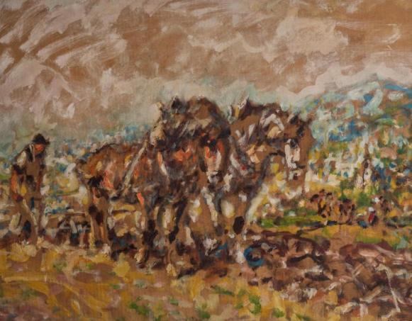 Kat. Nr. 17 | Julius Seyler (1873-1958) | Bauer am Pferdepflug