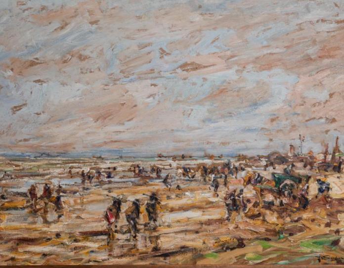 Kat. Nr. 15 | Julius Seyler (1873-1958) | Krevettenfischer am Strand