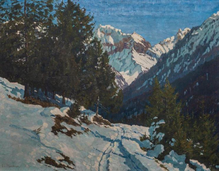 Kat. Nr. 11 | Lonny von Plänckner (1863–ca. 1925) | Winterliche Gebirgslandschaft